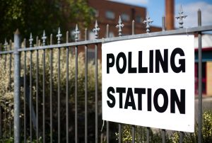 Directions to a polling station for a UK general election, European election or local election.
